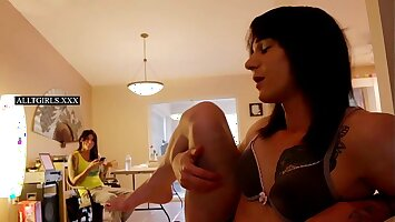 Hung Tranny's Frolic Behind the Scenes