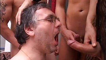 The Best TRANSEXUAL  Orgy of my life!!!