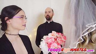 Hot Trans Couple Have Shotgun Wedding